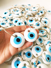 Evil Eye Beads, 5 pcs, Christmas Tree Decoration, Blue Gold Evil Eye