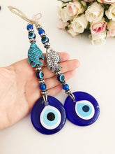 Evil eye wall hanging, fish lucky charm - Evileyefavor