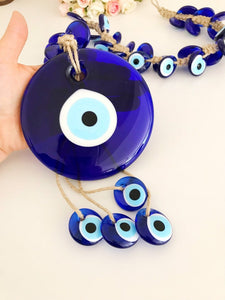 X-Large evil eye wall hanging with 41 beads - Evileyefavor