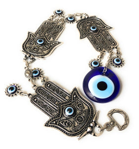 Large Evil Eye Wall Hanging, Metal Wall Hanging, Hamsa Elephant Wall Decor - Evileyefavor