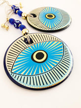 Evil Eye Wall Hanging, Glass Evil Eye Home Decor, Modern Handmade Wall Decor - Evileyefavor