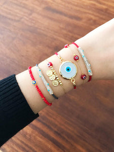 Red Evil Eye Jewelry, Evil Eye Bracelet, Evil Eye Necklace, Red Murano