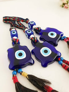 Blue Evil Eye Turtle Wall Hanging, Glass Evil Eye Bead, Evil Eye Home Decor - Evileyefavor