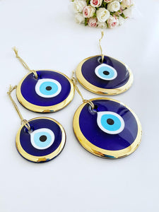 Gold Evil Eye Bead, 7cm to 13cm, Large Evil Eye Bead, Golden Evil Eye - Evileyefavor
