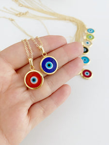 Murano Evil Eye Necklace, Evil Eye Jewelry, Glass Murano Bead, Greek Evil Eye - Evileyefavor