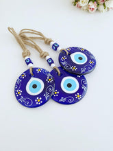 Blue Evil Eye Wall Hanging, Patterned Evil Eye Home Decor, Blue Evil Eye - Evileyefavor