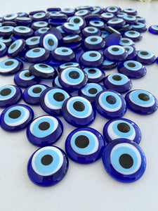 Blue Evil Eye Bead, 5 to 100 pcs, Glass Beads without Holes, Wedding Favors - Evileyefavor