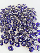 Blue Evil Eye Charm, Evil Eye Connectors, Evil Eye Bracelet Charm, Glass Bead