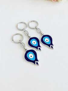 Pomegranate Evil Eye Keychain, Lucky Evil Eye Key Chain, Bag Accessories