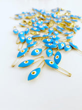 Gold Evil Eye Safety Pin, Lucky Evil Eye Safety Pin, Baby Pins