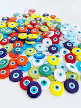 White Evil Eye Cabochons, 15mm Murano Glass Cabochon