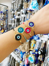 Handmade Murano Bracelet, Adjustable Bracelet, Evil Eye Jewelry