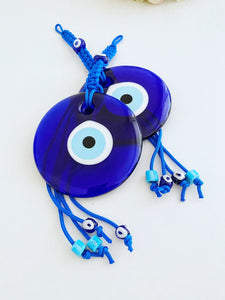 Blue Evil Eye Bead, Macrame Wall Hanging, Large Wall Hanging, Evil Eye Home Decor