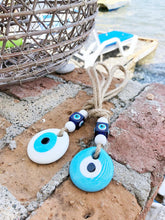 Evil Eye Beads, White Evil Eye, Macrame Wall Hanging, New Home Gift