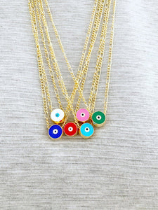 Evil Eye Necklace, Turkish Evil Eye, Gold Long Chain Necklace, Gift For Her