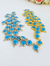 Gold Evil Eye Beads, Evil Eye Connectors, Brass Evil Eye Charm, DIY