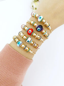 Evil Eye Bracelet, Authentic Pandora Bracelet, Glass Evil Eye Charm, Pandora Charm