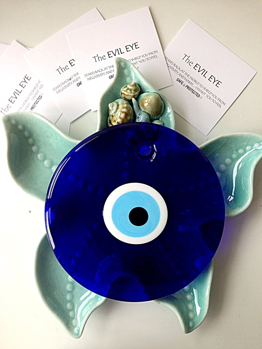 evil eye bead - 18cm - evil eye wall hanging - evil eye charm - large evil eye - Evileyefavor
