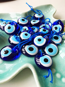 evil eye bead - 3.5cm - 5pcs - evil eye charm - large evil eye - turkish evil eye - Evileyefavor