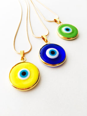 Evil eye necklace, gold chain evil eye necklace, elegant stylish necklace, evil eye pendants - Evileyefavor