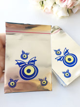 100 pcs evil eye bag - small evil eye gift bag - evil eye coin bag - evil eye purse - Evileyefavor