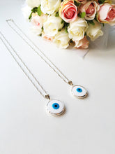White evil eye choker necklace, choker necklace, tiny evil eye necklace - Evileyefavor