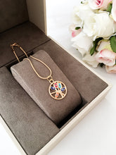 Evil eye necklace, tree of life necklace, gold evil eye necklace, colorful tree of life necklace - Evileyefavor