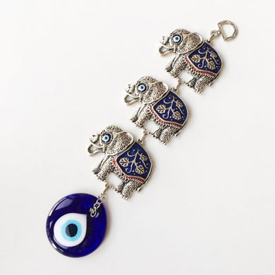 Lucky Elephant Evil Eye Wall Decor - Evileyefavor