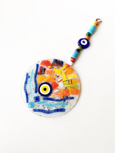 Mosaic Glass Evil Eye Wall Hanging - Evileyefavor