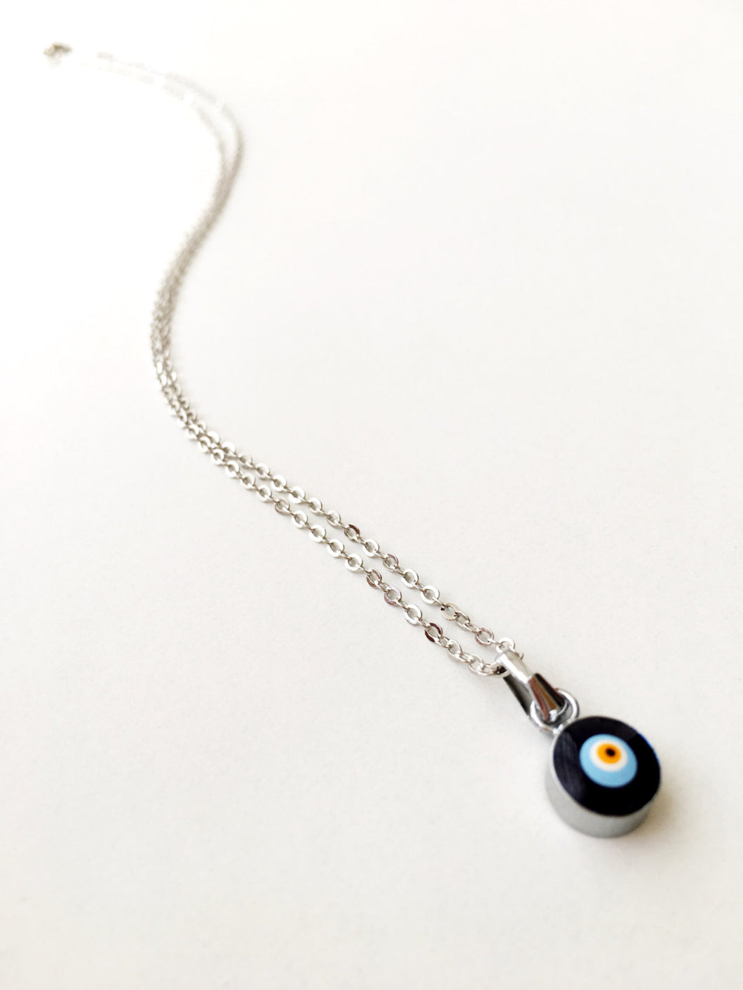 Evil eye choker necklace, silver evil eye necklace, blue evil eye necklace - Evileyefavor