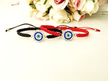 Macrame Evil Eye Bracelet, Turkish Evil Eye, Adjustable Bracelet - Evileyefavor