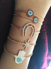 Evil Eye Bracelet collection, Rose Gold Adjustable Bracelet - Evileyefavor