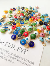 Evil eye charm pendant mix color SET - Evileyefavor