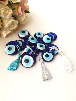 Wedding favors for guest, 100 pcs blue evil eye  beads, bulk gifts - Evileyefavor