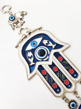 Blue Hamsa Hand Wall Decor, Blue Evil Eye Bead - Evileyefavor