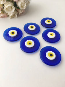 Blue evil eye magnet | glass evil eye bead | wedding favors for guest | nazar boncuk - Evileyefavor
