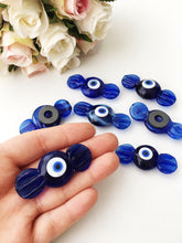 Glass evil eye magnet | blue candy evil eye magnet | blue fridge magnet - Evileyefavor
