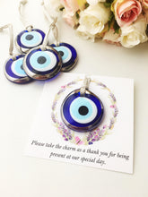 Wedding favors for guest with silver evil eye charms - Evileyefavor