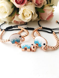 Good Luck Bracelet, Adjustable Bracelet, Elephant Bracelet - Evileyefavor