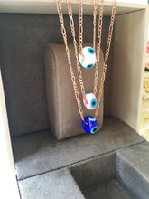 White evil eye beads, evil eye necklace, murano necklace, glass evil eye - Evileyefavor