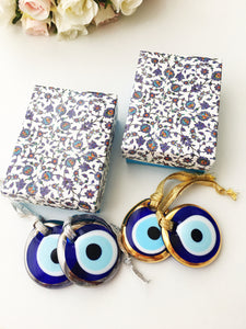 Christmas gift ideas, blue evil eye charm, christmas gifts, wedding favors, evil eye beads - Evileyefavor