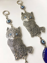 Cat Charm Evil Eye Bead Wall Hanging - Evileyefavor