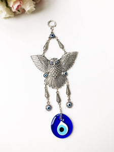 Large Owl Evil Eye Wall Hanging - Evileyefavor