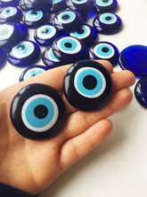 Blue evil eye charm beads, evil eye charm without hole, glass evil eye beads - Evileyefavor