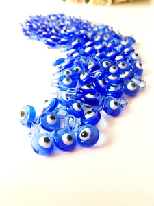 10 pcs Baby shower favors, evil eye charm, glass evil eye beads, blue evil eye - Evileyefavor