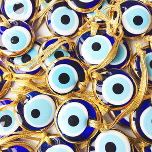 100 pcs, Wedding favors for guests, evil eye charm, gold wedding favors, - Evileyefavor