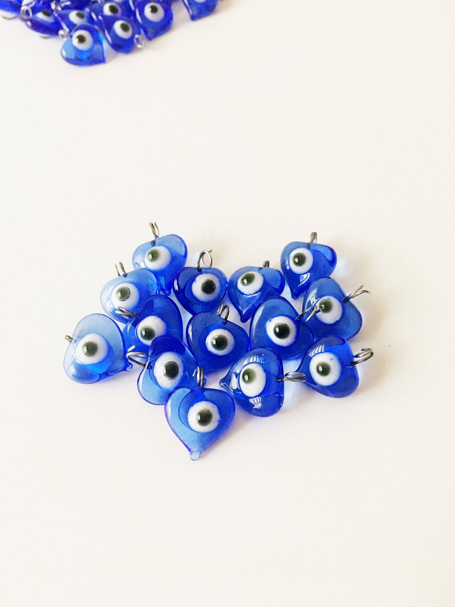 10 pcs Evil eye charm, unique wedding favors, blue evil eye beads ...