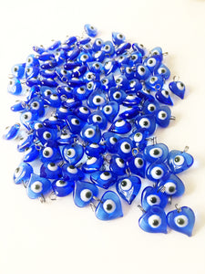 10 pcs Evil eye charm, unique wedding favors, blue evil eye beads, - Evileyefavor