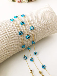 Evil Eye Bracelet, Seed Beads Bracelet, Greek Evil Eye Jewelry - Evileyefavor