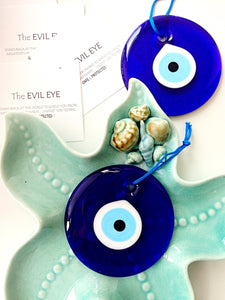 evil eye bead - 10cm - evil eye wall hanging - evil eye charm - large evil eye - Evileyefavor